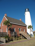 Cape St. George Lighthouse Keeper's House 1, St. George Island, FL by George Lansing Taylor Jr.