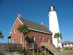 Cape St. George Lighthouse Keeper's Home 2, St. George Island, FL by George Lansing Taylor Jr.
