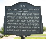 1873 Methodism Came to Waycross Marker, Waycross, GA by George Lansing Taylor Jr.