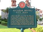 Alcazar Hotel / City Hall Marker, St. Augustine, FL
