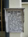 Balser/ Brandt Building Marker, Chester, SC