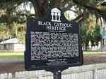 Black Catholic Heritage Marker (Obverse), St. Augustine, FL