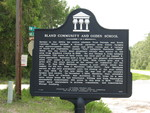 Bland Community and Ogden School Marker, Alachua County, FL