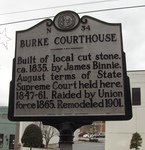 Burke County Courthouse Sign, Morganton, NC