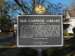 Old Carnegie Library Marker (Obverse), Cuthbert, GA