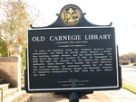 Old Carnegie Library Marker (Reverse), Cuthbert, GA