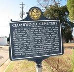 Cedarwood Cemetery Marker, Richland, GA