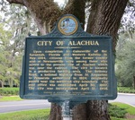 City of Alachua Marker, Alachua, FL by George Lansing Taylor Jr.