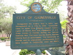 City of Gainesville, FL, Marker, Gainesville, FL