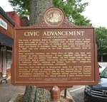 Civic Advancement Marker, Madison, GA by George Lansing Taylor Jr.