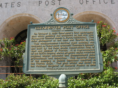 Clearwater post office marker clearwater fl by george Home creations clearwater