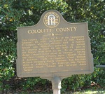 Colquitt County Marker, Moultrie, GA