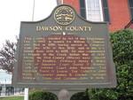 Dawson County Marker, Dawsonville, GA