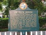 Dr. Peck House Marker, St. Augustine, FL