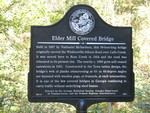 Elder's Mill Covered Bridge Marker, GA