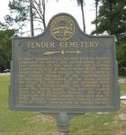 Fender Cemetery Marker, Lanier Co., GA