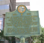 First Church Building Marker, Tampa, FL by George Lansing Taylor Jr.