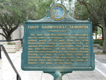 First Gainesville Skirmish Marker, Gainesville, FL by George Lansing Taylor Jr.