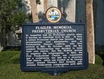 Flagler Memorial Presbyterian Church Marker (Obverse), St. Augustine, FL