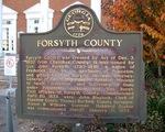 Forsyth County Marker, Cumming, GA