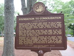 Foundation to Consolidation Marker, Madison, GA by George Lansing Taylor Jr.