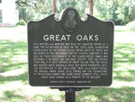 Great Oaks Marker, Greenwood, FL by George Lansing Taylor Jr.