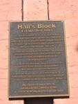 Halls Block Plaque, Dahlonega, GA
