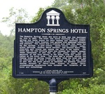 Hampton Springs Hotel Marker, Taylor Co., FL by George Lansing Taylor Jr.