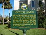 Lafayette County Marker, Mayo, FL