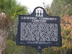 Lagrange Community Cemetery Marker, Titusville, FL