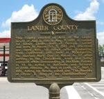 Lanier County Marker, Lakeland, GA by George Lansing Taylor Jr.