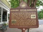 Lodging Establishments Marker, Madison, GA by George Lansing Taylor Jr.