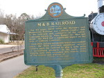 M & B Railroad Marker (Obverse), Blountstown, FL by George Lansing Taylor Jr.