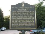 Town Marker, Rutledge, GA