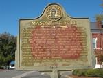 Masonic Temple Marker, Sanderville, GA