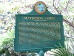 Matheson House Marker (Obverse), Gainesville, FL