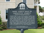 Mayo, County Seat of Lafayette County Marker, Mayo, FL by George Lansing Taylor Jr.