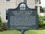 Mayo, County Seat of Lafayette County Marker, Mayo, FL