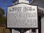 Mount Olive Missionary Baptist Church Marker, Nassauville, FL