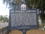 Mt Pleasant Cemetery Marker, Gainesville, FL by George Lansing Taylor Jr.