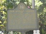 Old Spanish Garden Marker, St. Simons Island, GA