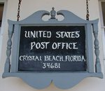 Post Office (34681) Sign, Crystal Beach, FL