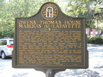 Owens—Thomas House, Marquis De Lafayette Marker, Savannah, GA