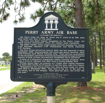 Perry Army Air Base Marker, Perry FL