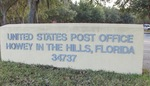 Post Office (34737) Sign, Howey-in-the-Hills, FL