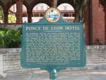 Ponce de León Hotel Historical Marker, St. Augustine, FL