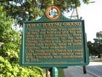 Public Burying Ground Marker, St. Augustine, FL by George Lansing Taylor Jr.