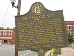 Pulaski County Marker, Hawkinsville, GA