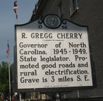 R Gregg Cherry Marker, Gastonia NC by George Lansing Taylor Jr.