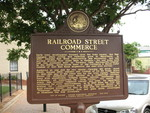 Railroad Street Commerce Marker, Madison, GA by George Lansing Taylor Jr.